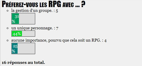 SONDAGE : Préferez-vous les RPG avec ... ?