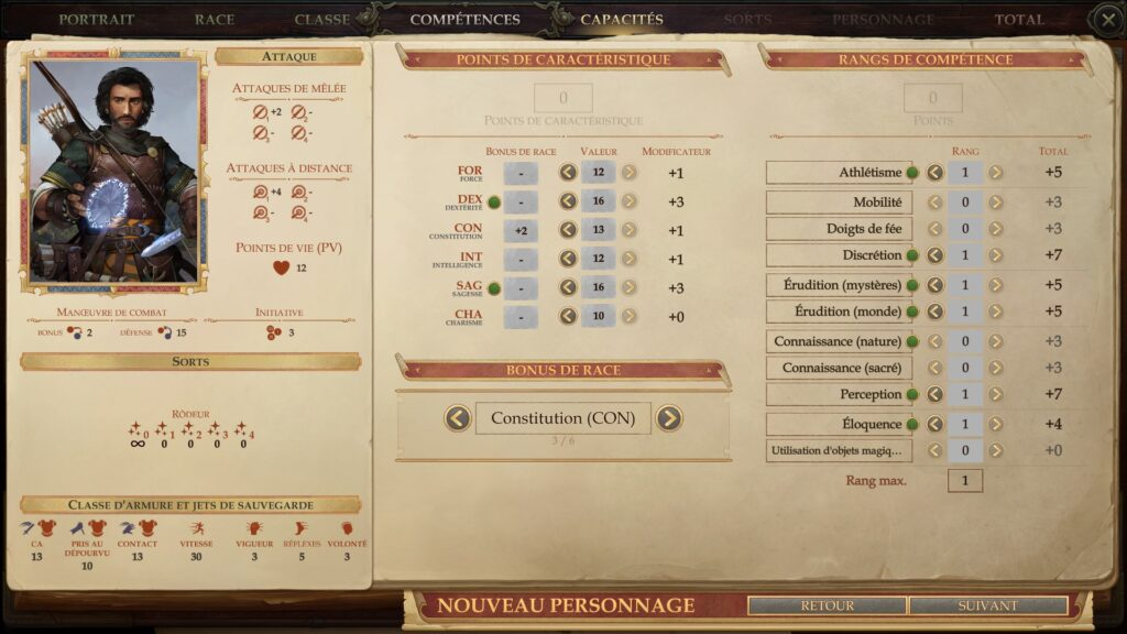 Pathfinder Kingmaker Statistiques | RPG Jeuxvidéo