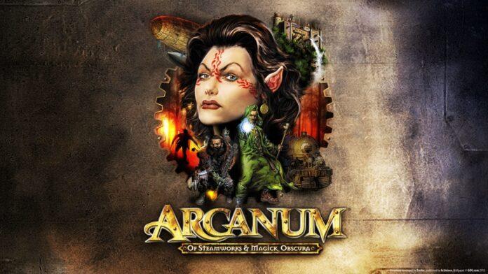 Arcanum affiche   RPG Jeuxvidéo