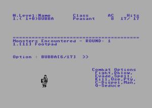 Oubliette 3 C64 | RPG Jeuxvidéo