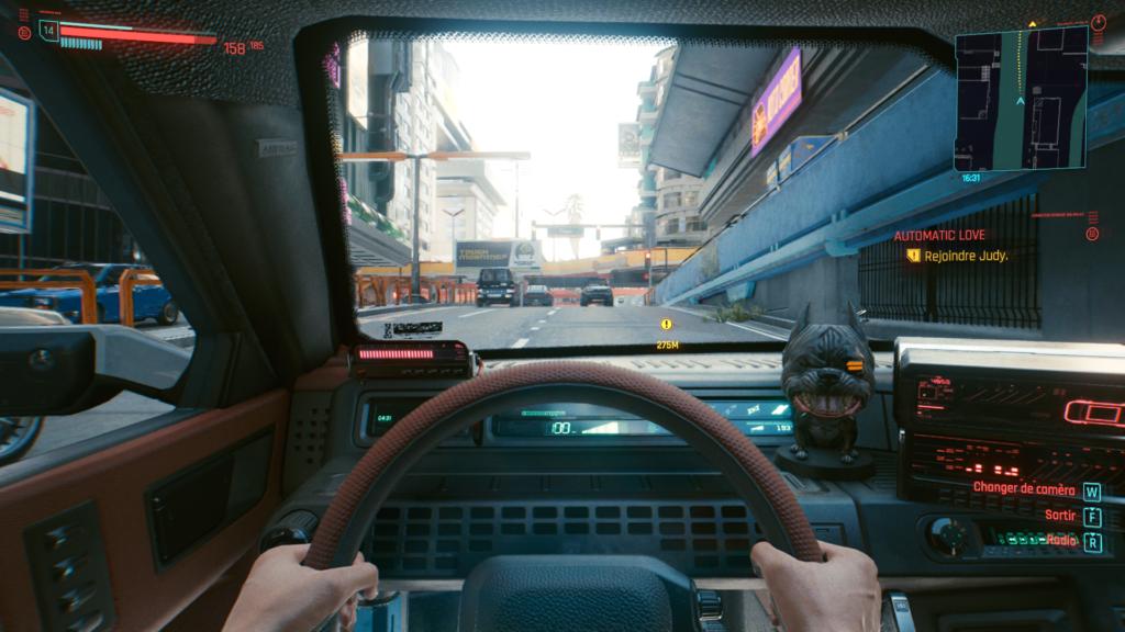 vue cockpit voiture | RPG Jeuxvidéo